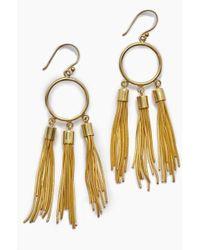 Lena Bernard - Gigi Gold Chain Tassel Dangle Earrings - Lyst