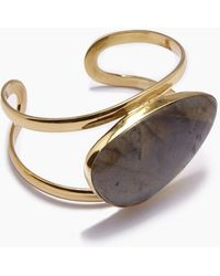 Lena Bernard Naeva Labradorite Gold Cuff Bracelet - Metallic