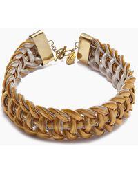 Lena Bernard - Sidika Woven Gold & Silver Snake Chain Collar Necklace - Lyst