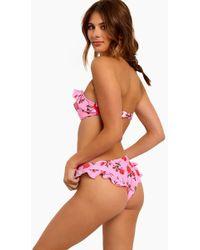Motel - Kaulana High Waisted Ruffle Bikini Bottom - Candy Rose - Lyst