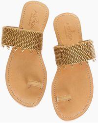 Aspiga - Luna Sandals - Gold - Lyst