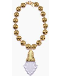 Lena Bernard - Orina Gold Bauble Crystal Pendant Necklace - Lyst