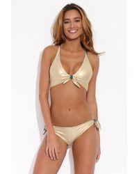 Luli Fama - Reversible Esmeralda Bikini Top - Lyst