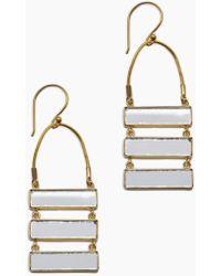 Lena Bernard - Damianis Mirrored Gold Brass Dangle Earrings - Lyst