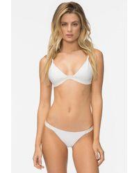 Tavik - Zeppelin Bikini Top - White Ribbed - Lyst