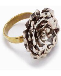 Lena Bernard - Medium Rose Statement Ring - Silver/gold - Lyst