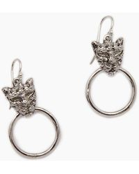 Vanessa Mooney - The Panther Earrings - Silver - Lyst