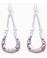 Vanessa Mooney - The Brooklyn Horseshoe Earrings - Silver - Lyst
