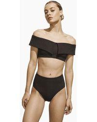 AMAIO SWIM - Jolie Off The Shoulder Bikini Top - Black - Lyst