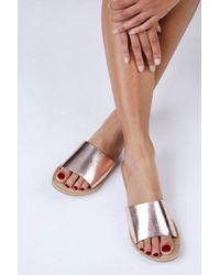 Matisse - Rose Gold Cabana Sandals - Lyst
