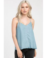 RVCA - Raided Tank Top - Chambray - Lyst