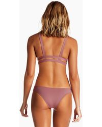 Vitamin A - Neutra Side Cut Out Hipster Bottom - Dusty Rose Pink - Lyst