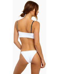 Blue Life - Cruise Skimpy Bikini Bottom - White Seersucker - Lyst