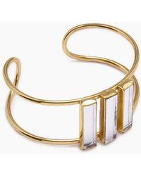 Lena Bernard - Damianis Mirrored Gold Brass Cuff Bracelet - Lyst