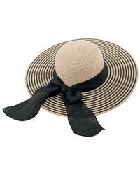 Bikini.com - Striped Black Sun Hat - Lyst