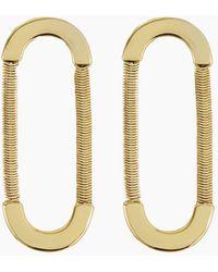 Luv Aj Snake Chain Loop Studs - Gold