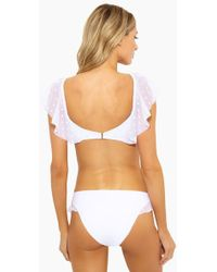 273e66f11e Robin Piccone Penelope Sheer Wrap Dress Swim Cover Up in White - Lyst