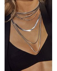 Luv Aj - Cascading Snake Chain Necklace - Silver - Lyst