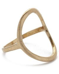 JEWEL CULT - Open Circle Ring - Lyst