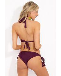 Mia Marcelle - Alyssa Tie Side Bikini Bottom - Wine - Lyst