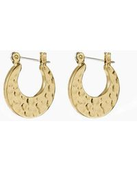 Luv Aj - The Mini Hammered Sheet Hoops - Gold - Lyst