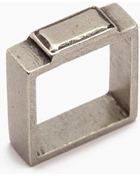 Vanessa Mooney - Fight The Power Pewter Square Ring - Silver - Lyst