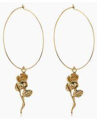 Luv Aj - Rosette Hoop Earrings - Gold - Lyst