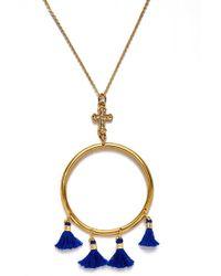 Vanessa Mooney - The Demi Tassel & Cross Hoop Necklace - Lyst
