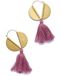 Sandy Hyun - Lavender Tassle Earrings - Lyst