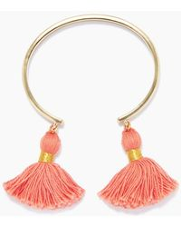 Lacey Ryan - Tassel Bangles - Coral & Gold - Lyst
