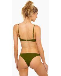 F E L L A. - Jasper Low Cut Cheeky Bikini Bottom - Olive - Lyst
