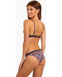 Tigerlily - Paradis Tiger Bikini Bottom - Mustard Floral Paisley - Lyst