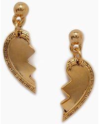 Vanessa Mooney - The Broken Heart Friendship Earrings - Gold - Lyst