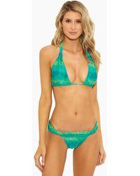 ViX Bia Tube Triangle Bikini Top - Lagoon Green Tie Dye Print