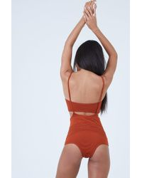 Made By Dawn - Puzzle Jumper Overall Bikini Bottom - Monarch Rib - Lyst