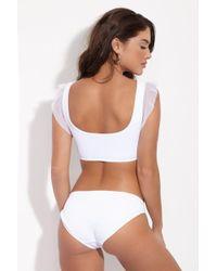 Beth Richards - Naomi Low Rise Bikini Bottom - White - Lyst