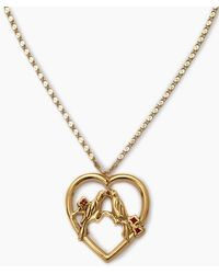 Vanessa Mooney - The Love Bird Necklace - Gold - Lyst