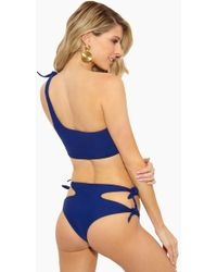 Aila Blue - Galaxy Side Tie Cut Out Bikini Bottom - Lapis Blue - Lyst