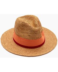 9ea36ca86fa Hat Attack - Raffia Crochet Rancher Hat - Toast pink - Lyst