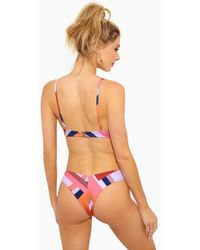 F E L L A. - Lukey Super Hight Cut Bikini Bottom - Scarf Print - Lyst