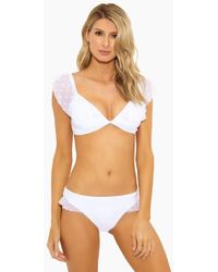 Ella Moss - Shoulder Sheer Dot Soft Bra Bikini Top - White - Lyst