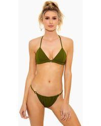 F E L L A. - Louis The Ii Belted Bikini Top - Olive - Lyst
