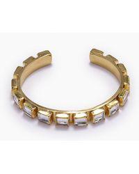 Lena Bernard - Destina Disco Mirrored Gold Brass Cuff Bracelet - Lyst