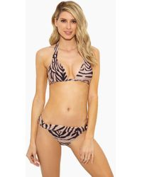 Rosa Cha - Carla Strappy Bikini Top - Tiger Print - Lyst