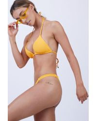 Vitamin A - Carmen Skimpy Bikini Bottom - Sunflower Ecolux - Lyst