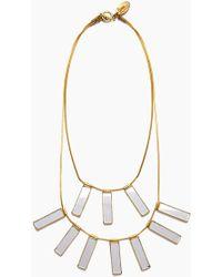 Lena Bernard - Davina Mirrored Charm Gold Brass Layered Necklace - Lyst
