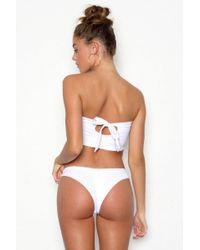 Peixoto - Bahia Beach Cheeky Bikini Bottom - White - Lyst