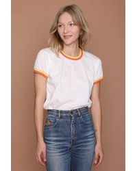 c9bbbb239 Camp Collection - Double Trouble Ringer Tee - Vintage White W/sunshine -  Lyst