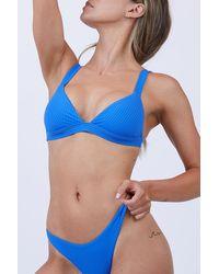 Vitamin A - Neutra Ribbed Bralette Bikini Top - Beach Blue - Lyst