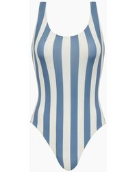 Solid & Striped - The Anne-marie Classic One Piece Swimsuit - Blue Ice Stripe Print - Lyst